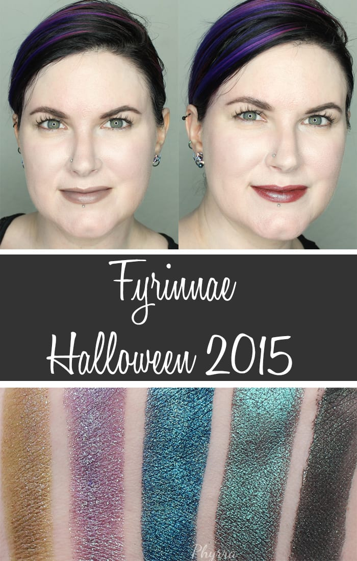 Fyrinnae Halloween 2015 Review, Swatches Looks