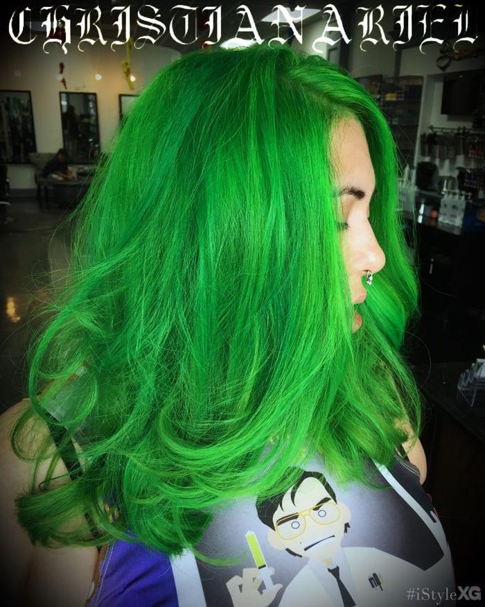Green Pravana Hair