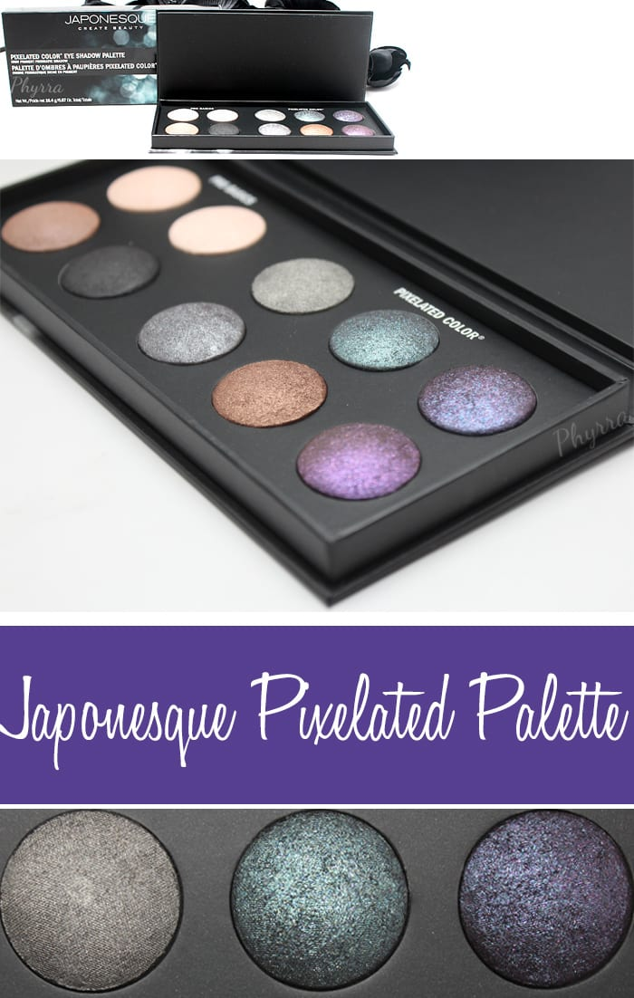 Japonesque Pixelated Color Eye Shadow Palette Review Video Swatches