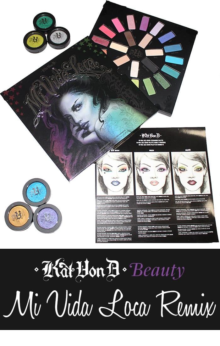 Kat Von D Mi Vida Loca Remix Eyeshadow Palette Review and Swatches