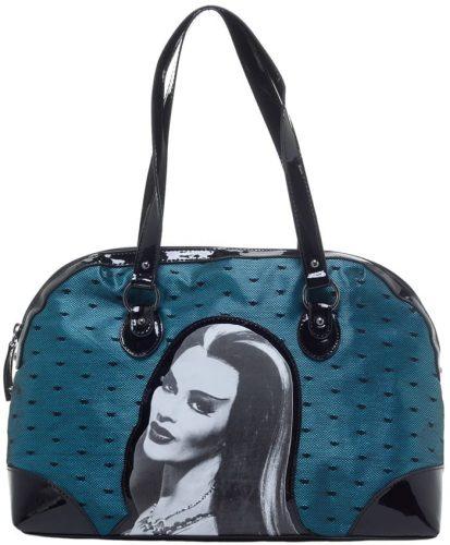 Rock Rebel Lily Munster Teal Blue Lace Handbag