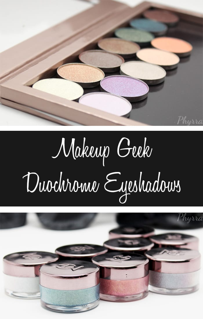 Makeup Geek Duochrome Eyeshadows Review, Swatches, Thoughts and Look