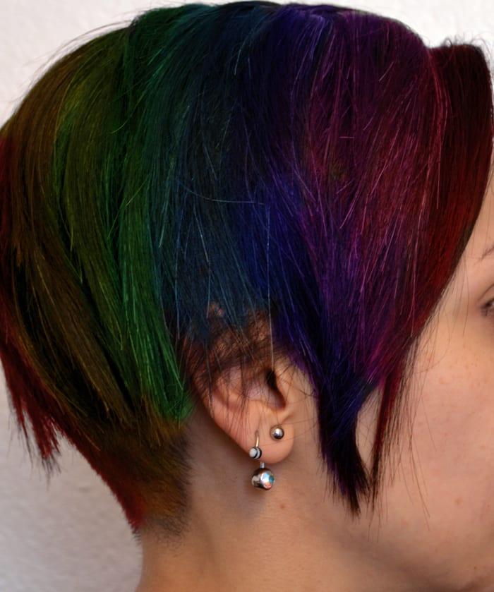 Muted Rainbow Oil Slick