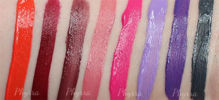 Nyx Liquid Suede Cream Lipstick Swatches