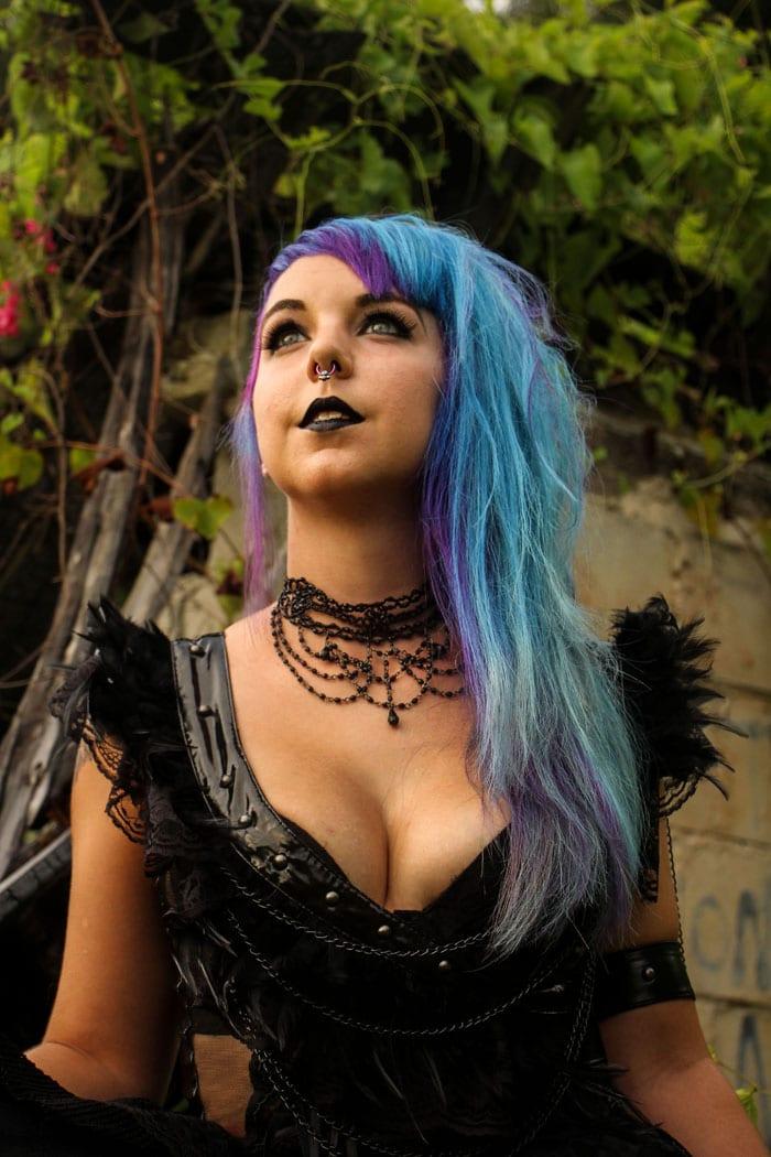 Beautiful Pravana Purple and aqua blue hair