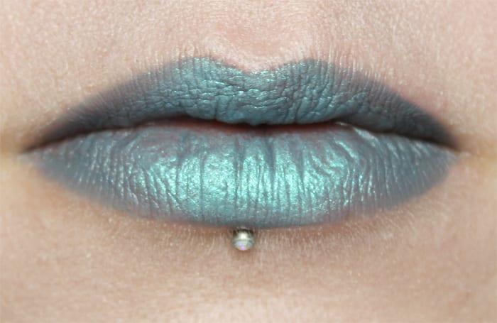 House of Uni Mystique Lipstick with Sugarpill Lumi on top