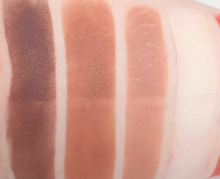 Lunatick Cosmetic Labs Contour Palette Swatches Review