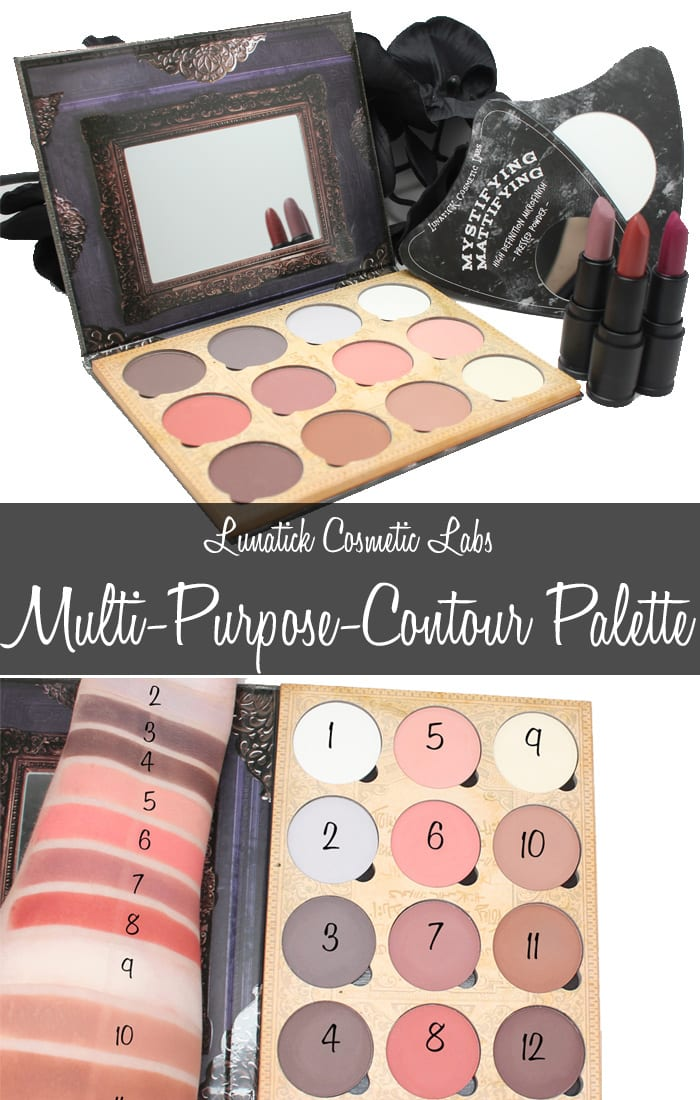 Lunatick Cosmetic Labs Multipurpose Contour Palette Review Swatches Looks