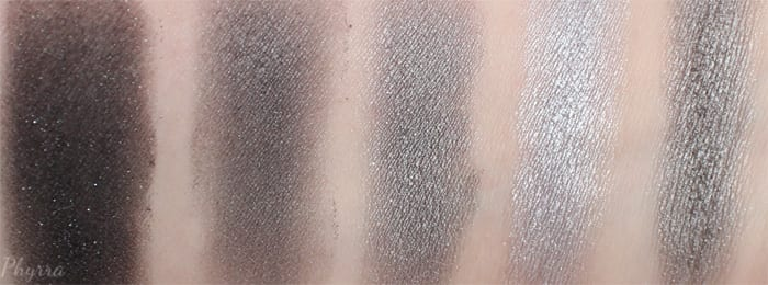 Silver Eyeshadow Swatches