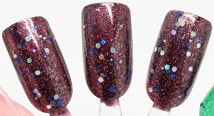 KBShimmer Yule Worthy topped with Oh Holo Night mani