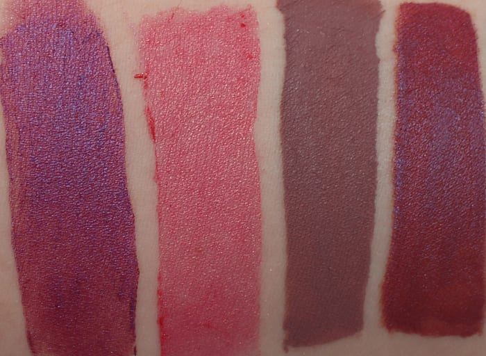 Notoriously Morbid Lipstick Swatches