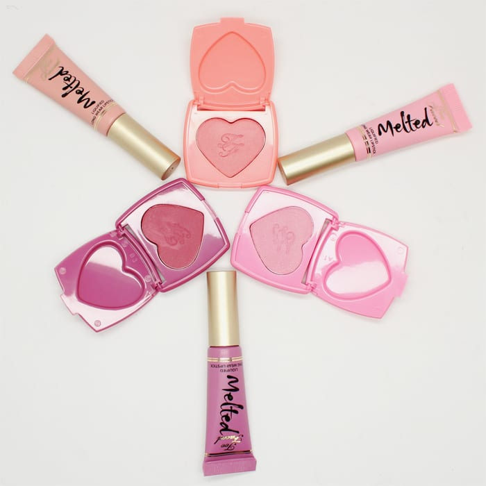 Too Faced Melted Kisses and Sweet Cheeks Set Review Swatches