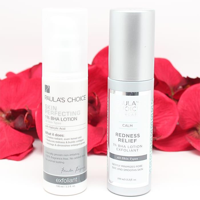 Paula's Choice BHA Lotion and Calm Redness Relief BHA Lotion Exfoliant