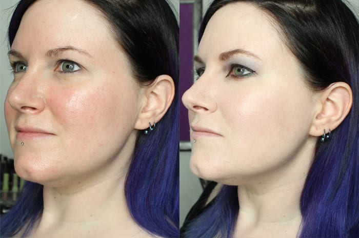 Before and After Too Faced Born This Way Foundation