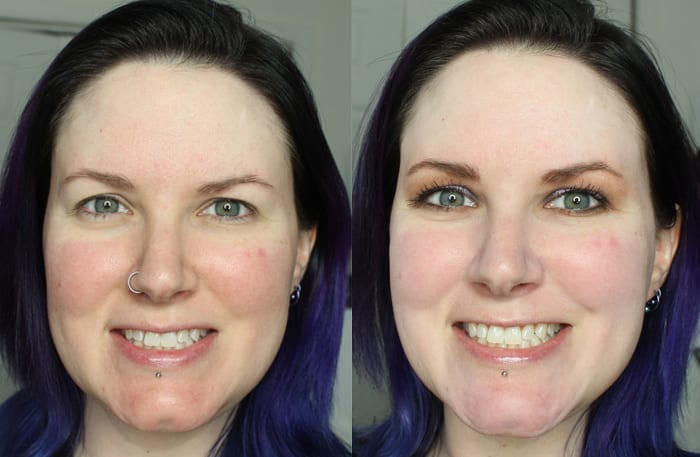 Before and After with Hourglass Veil Mineral Primer
