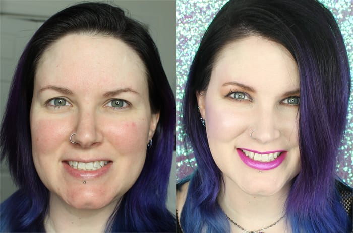 Before and After with my foundation