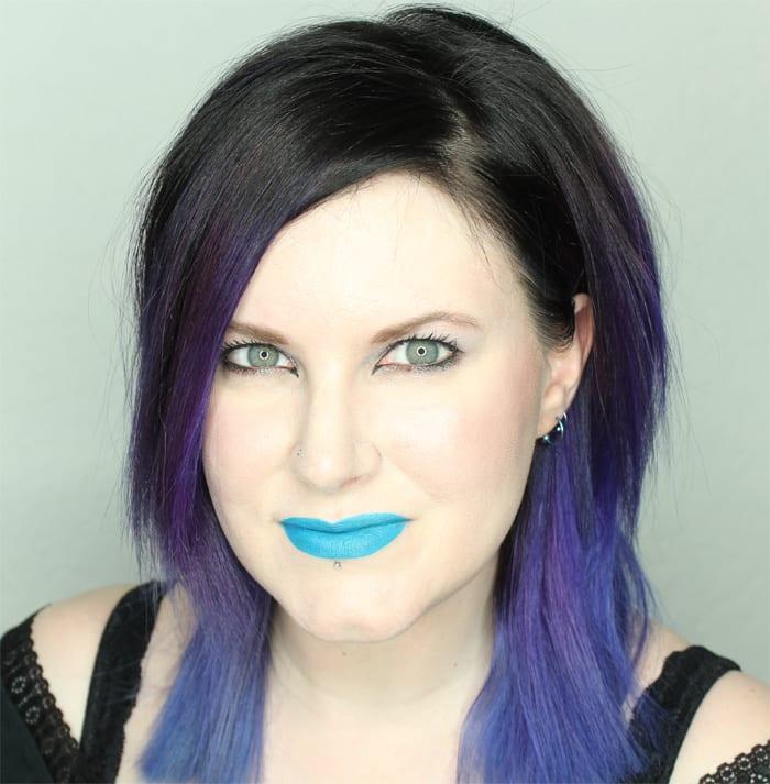 Wearing Fyrinnae Matte Liquid Lipstick in Sinister