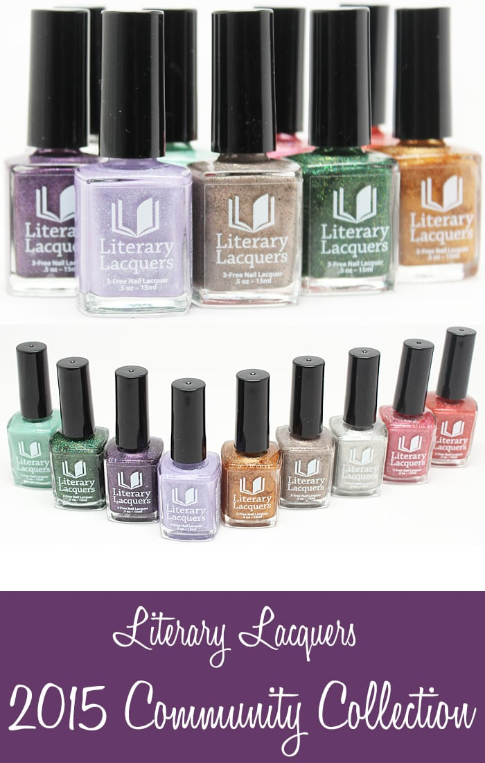 Literary Lacquers 2015 Community Collection swatches and Review