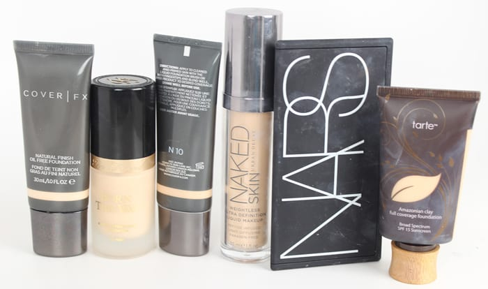Pale Liquid and Powder Foundation Swatches