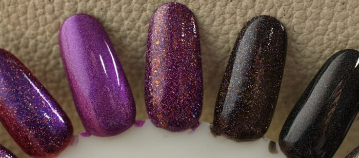 Prettiest Winter Nail Colors swatches manis