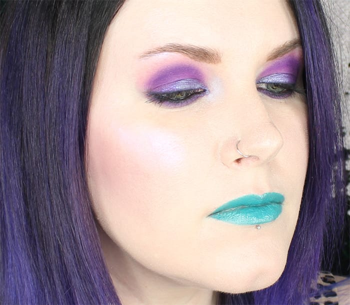 Purple Duochrome Dome Shape Makeup Tutorial