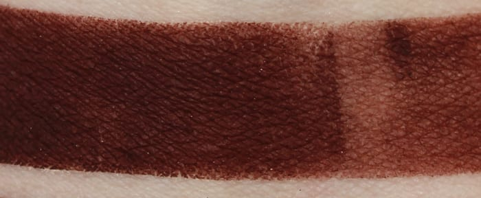 Too Faced Bordeaux swatch