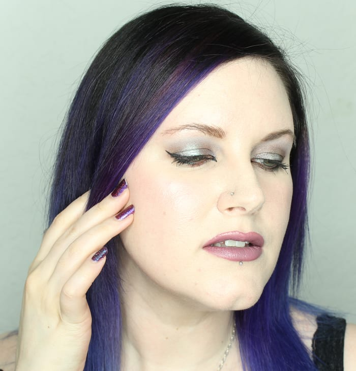 Wearing Meow Inferno's Light, Urban Decay Bust, Makeup Geek Kaleidoscope and Insomnia