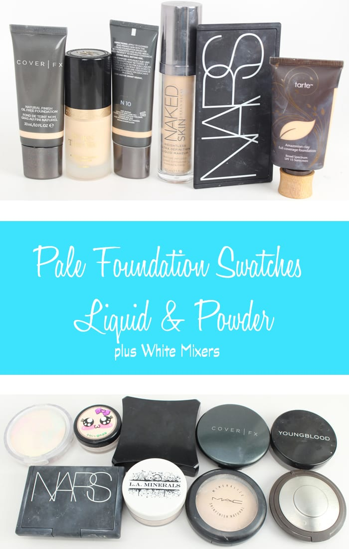 Cruelty Free and Vegan Pale Liquid and Powder Foundation Swatches, plus White Mixers - Phyrra.net