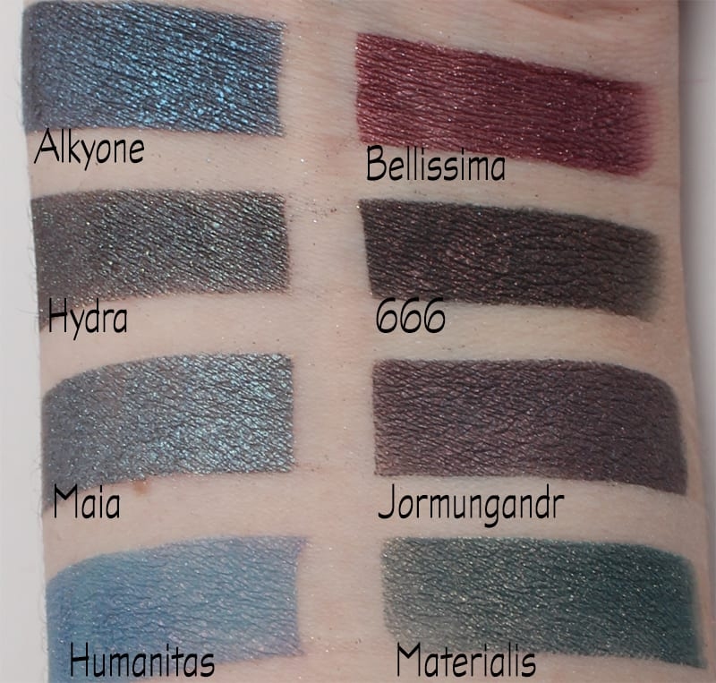 Aromaleigh Eyeshadow Swatches