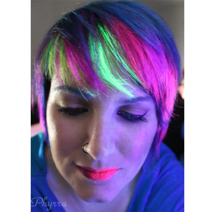 Blacklight Reactive Hair with Manic Panic