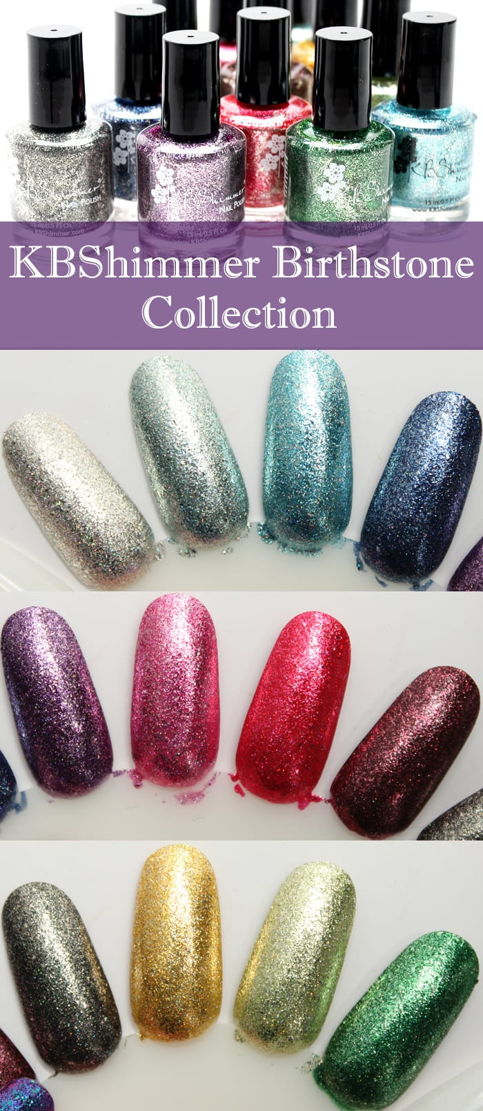 KBShimmer Birthstone Collection Swatches and Review