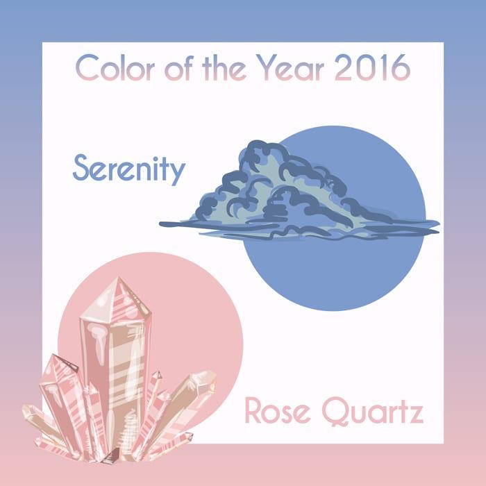 Pantone 2016 Rose Quartz and Serenity Beauty