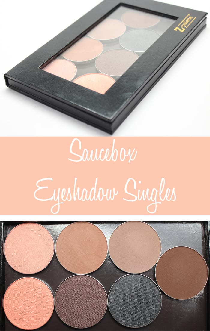 Saucebox Eyeshadow Singles swatches, review thoughts