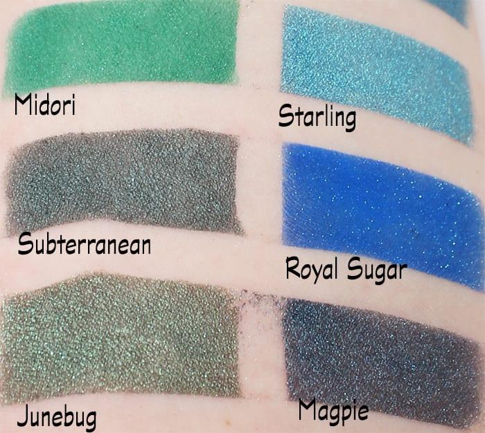 Sugarpill Greens and Blues