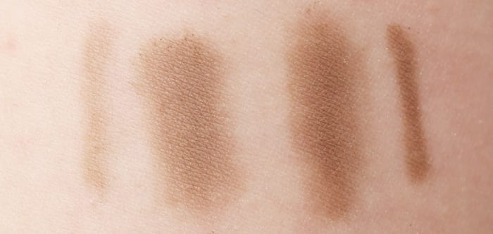 Urban Decay Brow Box in Bathwater Blonde swatches