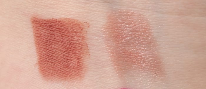Urban Decay Ex-Girlfriend Pencil and Lipstick Swatch