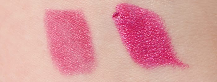 Urban Decay Firebird Pencil and Lipstick Swatch