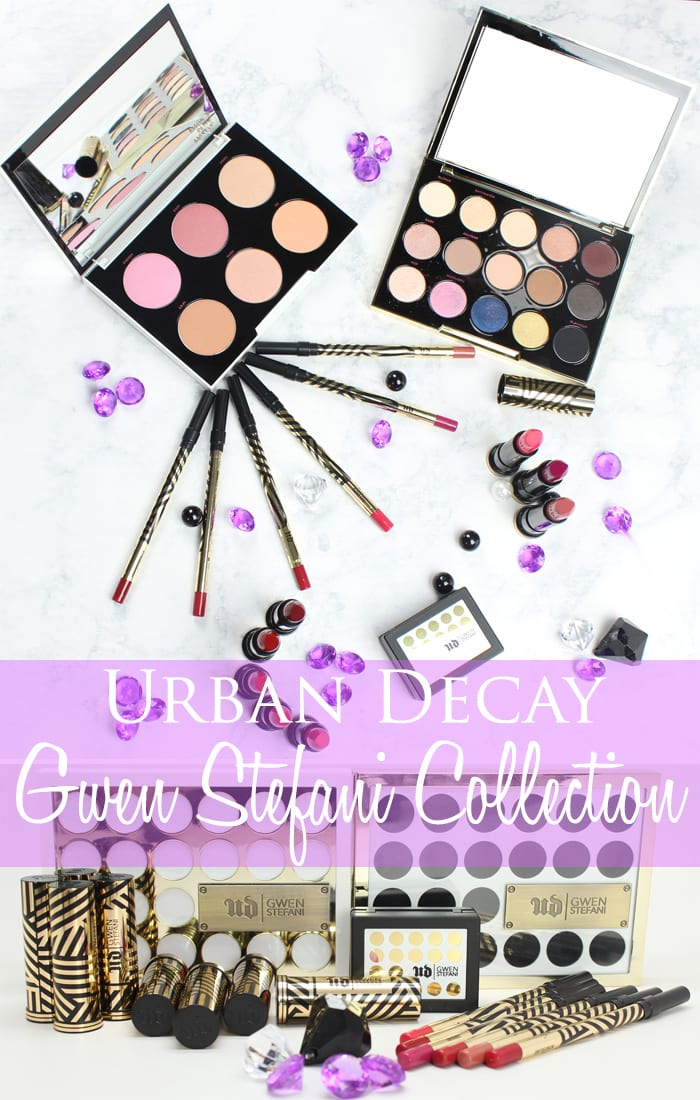 Urban Decay Gwen Stefani Makeup Collection swatches