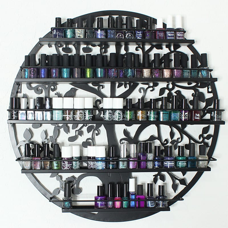 Gothic Black Tree Wall Mount Nail Polish Organizer