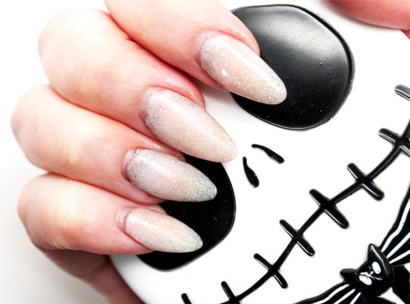 Iridescent White Nails
