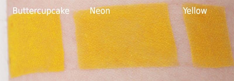 Melt Cosmetics Neon Dupes