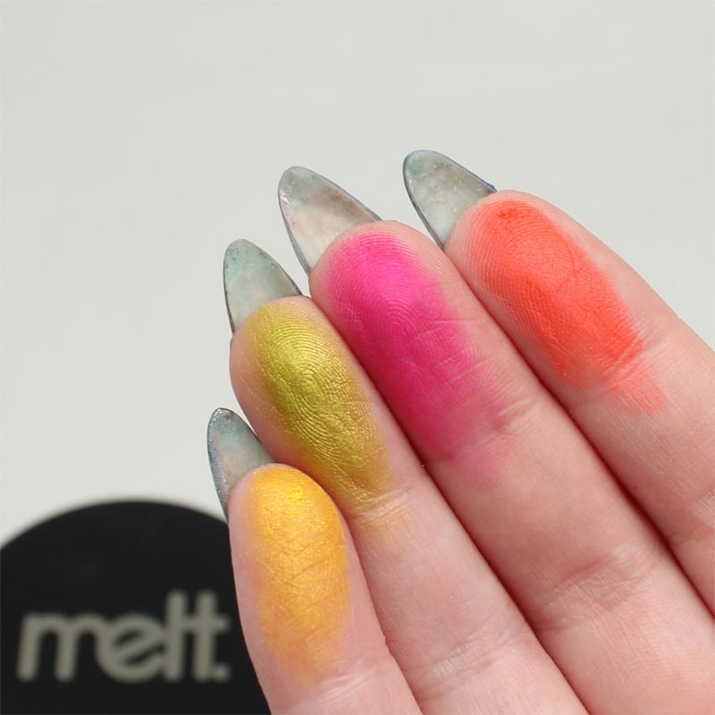 Melt Cosmetics Radioactive Eyeshadow Stack Review Swatches
