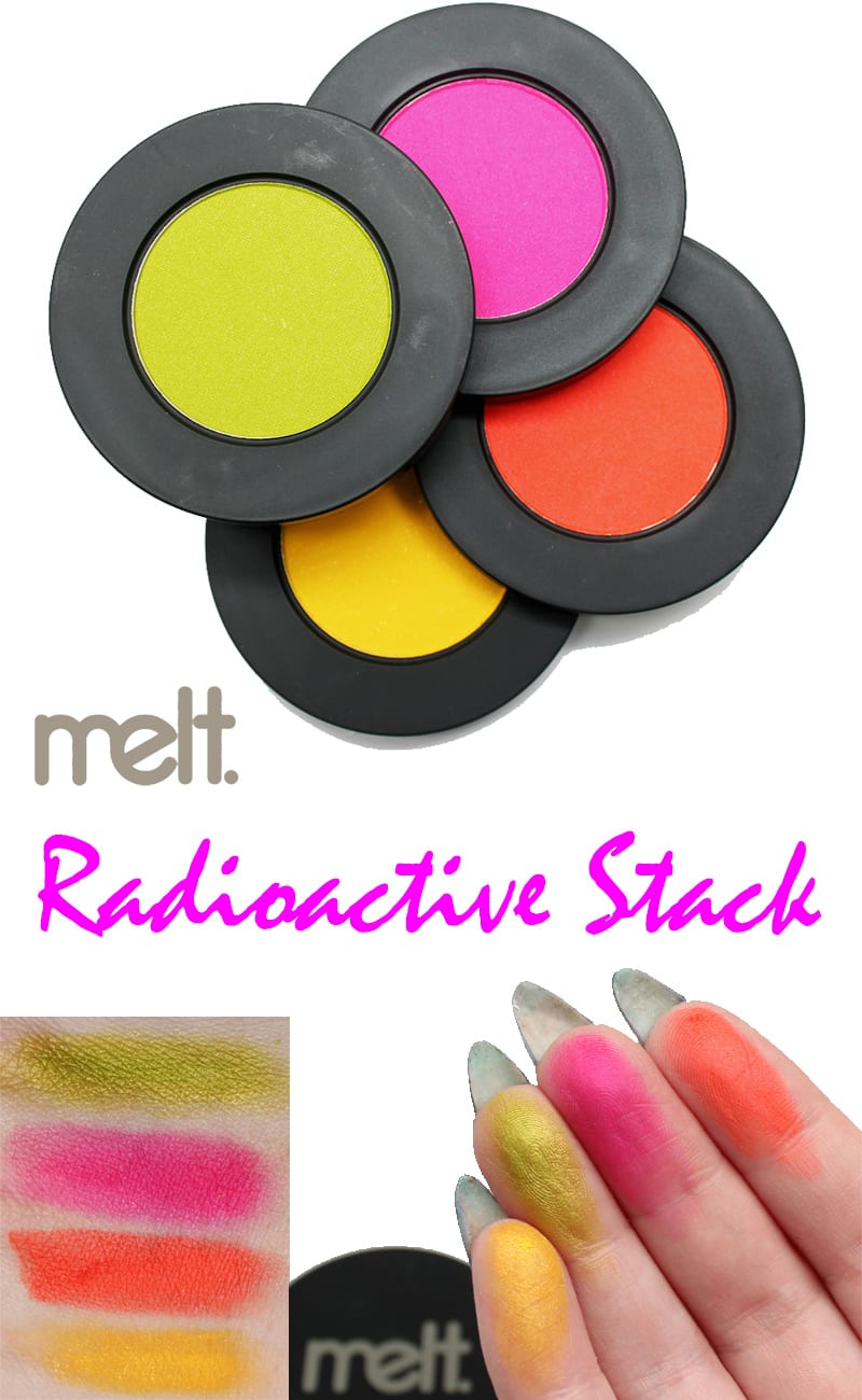 Melt Cosmetics Radioactive Eyeshadow Stack Review Swatches Dupes