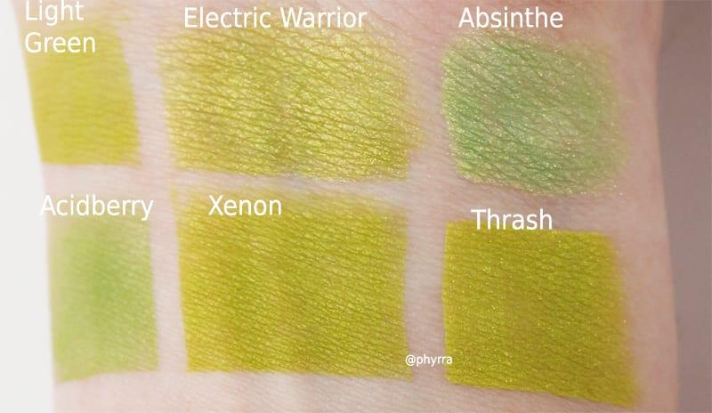 Melt Cosmetics Radioactive Xenon Dupes