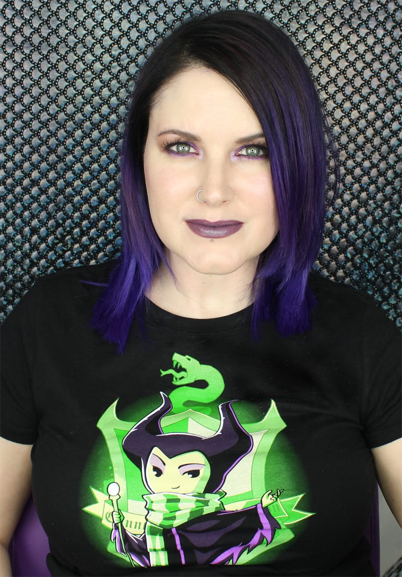 Wearing Teeturtle Cunning and Ambition Maleficent + Slytherin Shirt
