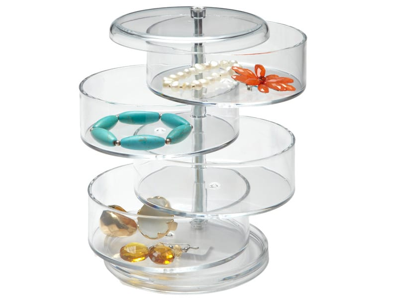 Swivel Acrylic Organizer for pony tail holders, bobby pins, barettes, cotton balls, q-tips, etc