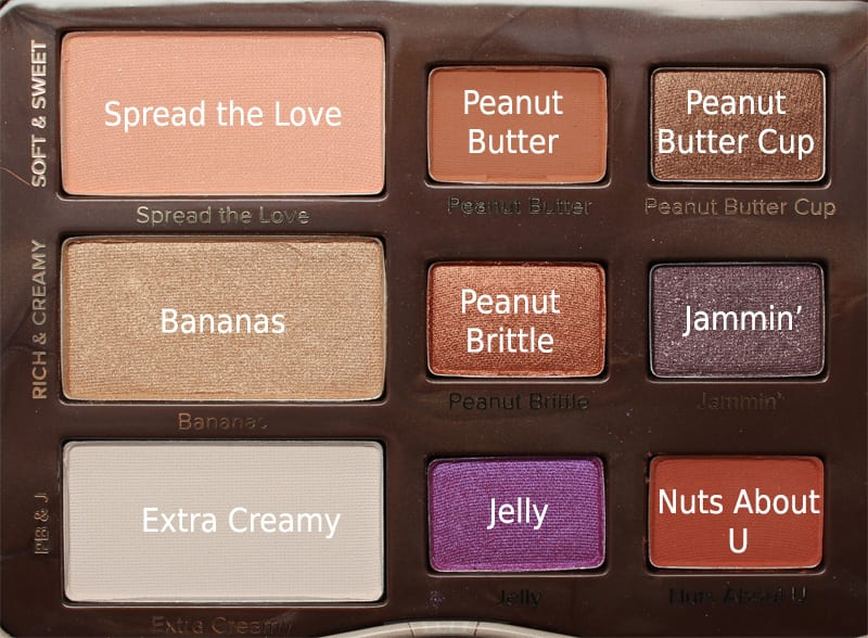 Too Faced Peanut Butter And Jelly Palette Review Swatches Video