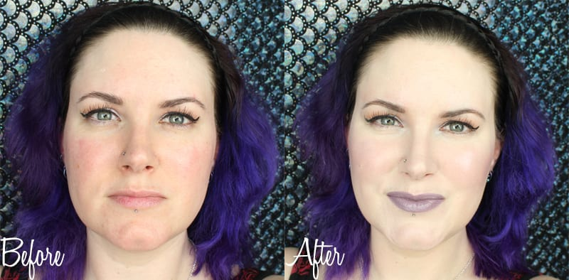Before and After with Cover FX