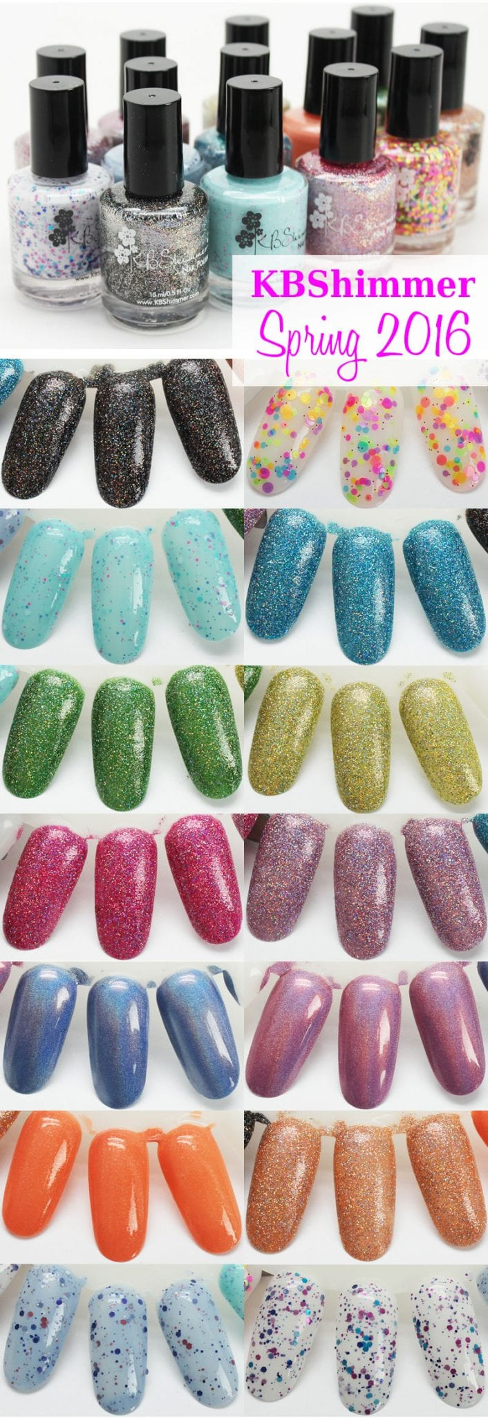 KBShimmer Spring 2016 Collection Review Swatches Video
