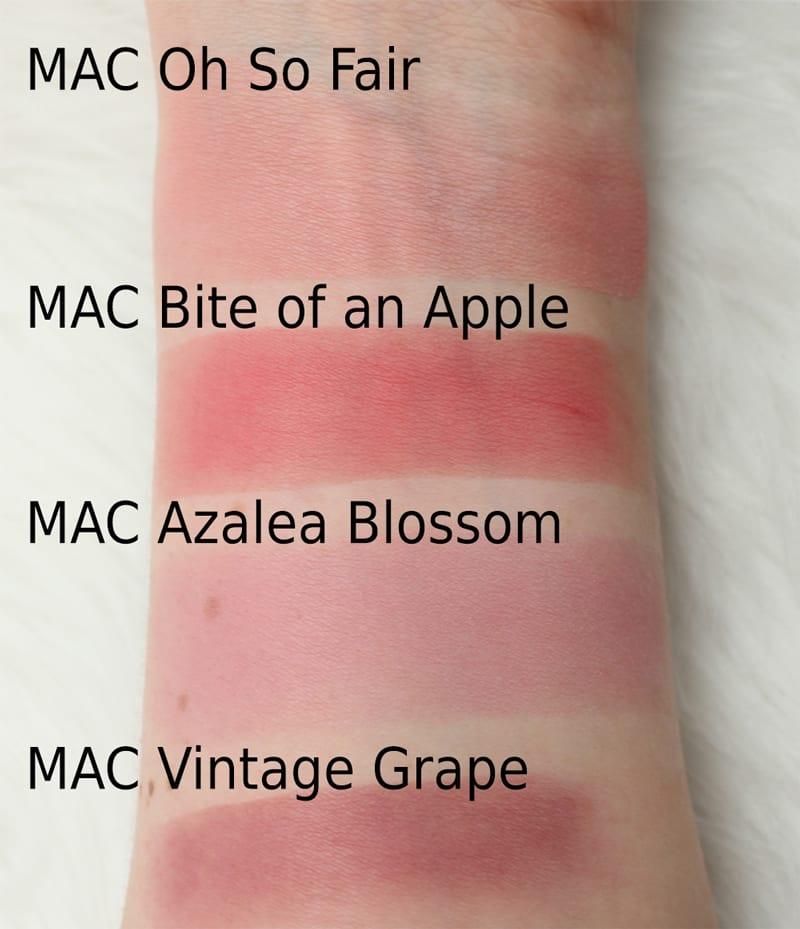 MAC Blushes (Not Cruelty Free)